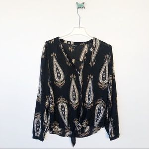 Lucky Brand paisley print  top sz medium